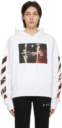 Off-White White Caravaggio Painting Hoodie