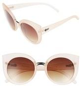 Quay Women's 'Dream Of Me' Cat Eye Sunglasses - Beige/ Brown Lens
