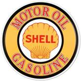 Shell Motor Oil Gasoline Round Metal Sign