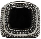 Emanuele Bicocchi Silver Square Stone Ring