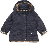 Burberry Detachable Hood Diamond Quilted Jacket