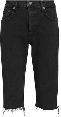 AGOLDE Carrie Skinny Bermuda Denim Shorts