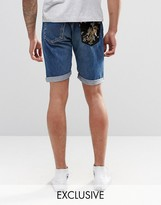 Reclaimed Vintage Mid Length Levi's Shorts With Pocket Patch