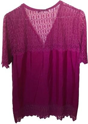 The Kooples Purple Silk Top for Women