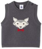 Petit Bateau Baby boys sleeveless jacquard sweater
