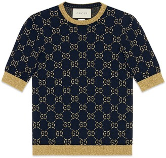 Gucci GG cotton lame top