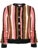 Marco De Vincenzo striped cardigan - women - Acrylic/Polyamide/Viscose/Wool - 38
