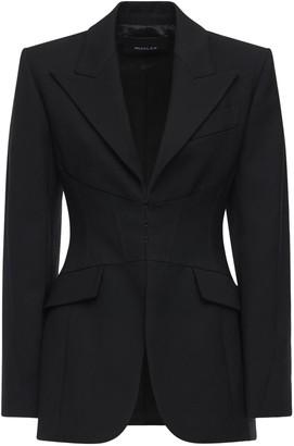 Thierry Mugler Wool Twill Corset Blazer Jacket