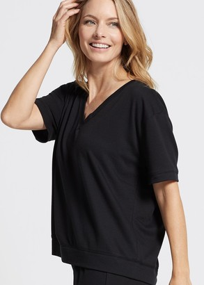 Yummie Baby French Terry V-neck Drop Shoulder Tee