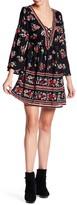 Angie Lace Up V-Neck Dress