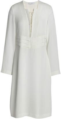 IRO Lace-up Crepe De Chine Dress