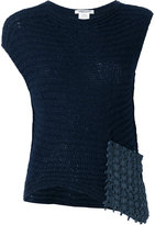 Lamberto Losani woven patch tank - women - Cotton/Suede/Polyamide/Cashmere - S