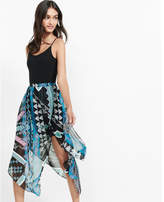 Express geo print faux wrap midi skirt