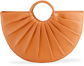 DLYP Bender Midi Pleated Calfskin Tote Bag