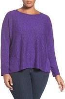 Eileen Fisher Organic Slub Knit Pullover (Plus Size)