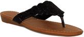 Fashion Focus Black Wide-Strap Tiffany Sandal