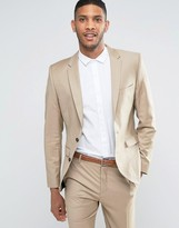 Selected Suit Jacket In Sand