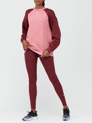 Nike Training Thermal Colourblock Sweatshirt - Pink