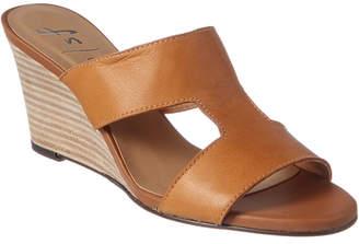 French Sole Hurricane Leather Wedge Sandal