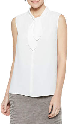 Misook Loop & Tie Sleeveless Blouse
