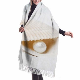 """Gong 27""""x77"""" Girls Cashmere Scarf Beautiful Pearls And Shells Are On The Sand Scarf Long Shawl Wrap Women Stylish Large Warm Blanket"""