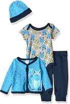 Disney Baby Boys' 4-Piece Monsters Inc. Cardigan Set with Bodysuit