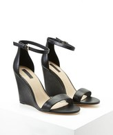 Forever 21 FOREVER 21+ Faux Leather Ankle-Strap Wedges