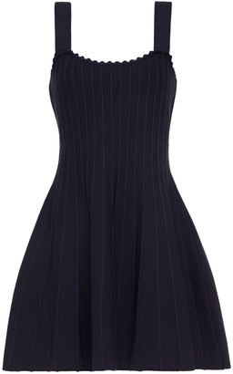 Claudie Pierlot Manate Fluted Stretch-ponte Mini Dress