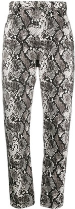 ATTICO High-Waisted Snake Print Trousers