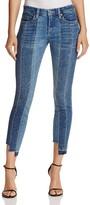 Blank NYC BLANKNYC Contrast Denim Crop Skinny Jeans in High and Low