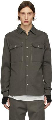 Rick Owens Black Oversized Linen Shirt
