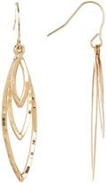Candela 14K Gold Textured Multi Marquise Dangle Earrings