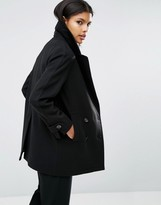 Asos Double Breasted Peacoat