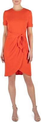 Julia Jordan Round Neck Short Sleeve T-Shirt Dress