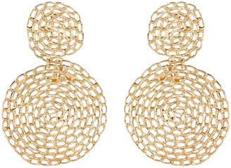 Gas Bijoux Onde Gourmette Lace Circle Earrings