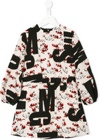 MSGM logo cat print dress - kids - Polyester - 4 yrs