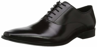 Dune London Dune Mens POWERMORE Lace Up Smart Oxford Shoes Size UK 8 Black Flat Heel Oxford Shoes