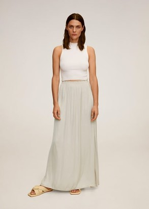 MANGO Elastic waist skirt light/pastel grey - M - Women