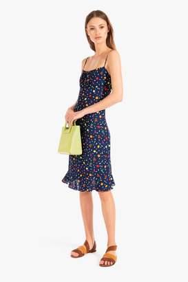 STAUD Bellini Dress | Boysenberry Small Salad