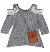 Xtraordinary Big Girls 7-16 Lace-Trimmed Cold-Shoulder Top