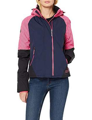 Superdry Women's Arctic Impact Windcheater Jacket, (Candy Pink Moe), (Size: 10)