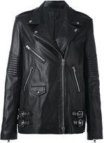 Alexander Wang classic biker jacket - women - Calf Leather/Polyester - 2