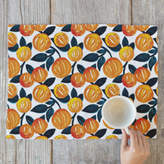 Minted Watercolor Orange Garden Placemats