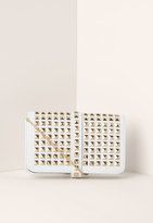 Missguided Multi Stud Clutch Bag White