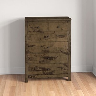 Three Posts Teignmouth Weathered Distressed 6 Drawer Chest