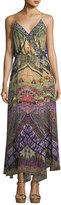 Camilla Embellished Sleeveless Silk Wrap Dress