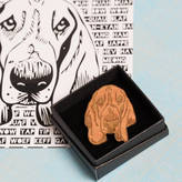 Frilly Industries Basset Hound Pin Badge And Card Gift For Dog Lovers