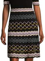 M Missoni Ribbon Wave Stripe Skirt