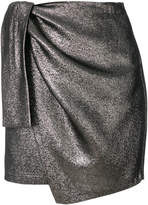 Amen draped asymmetric mini skirt