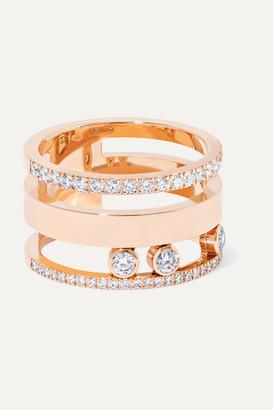 Messika Move Romane Large 18-karat Rose Gold Diamond Ring - 52